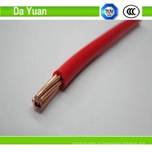 Fio de construção com PVC isolado Bvr 1.5mm2 cabo Electrica