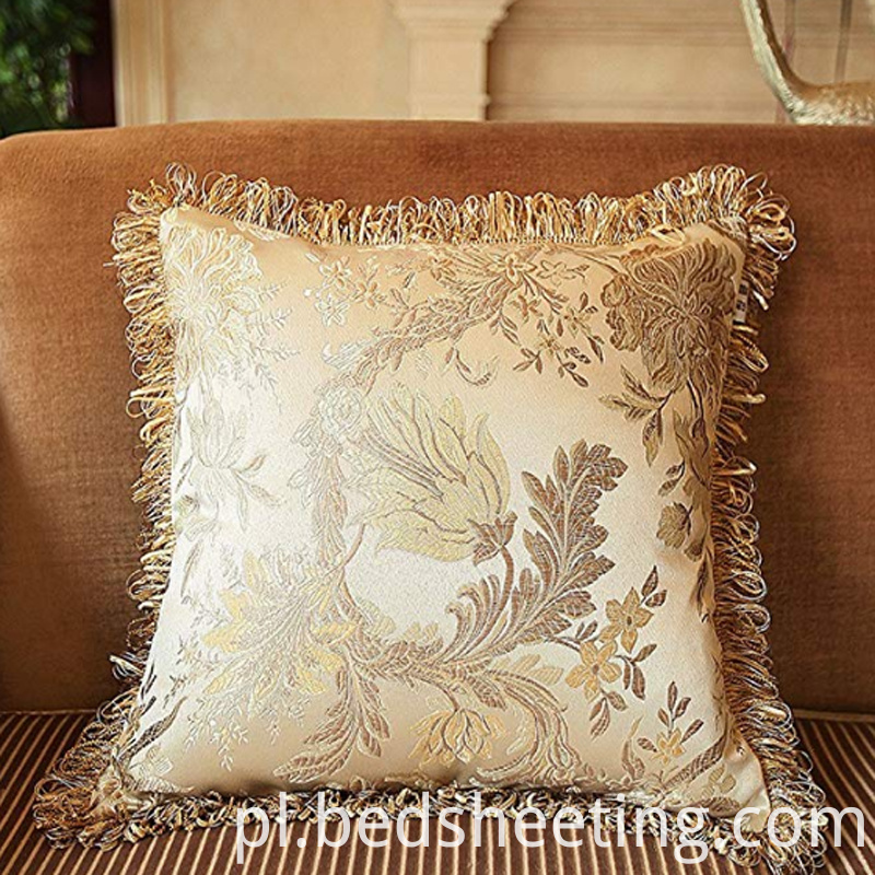 Cotton Jacquard Square Pillow Cases