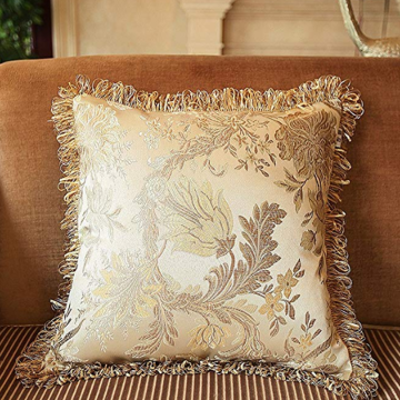 Satin Jacquard Tassel Edge Dekorativa Pillowcases