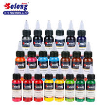 Solong Tattoo 21 couleurs professionnel meilleur encre permanente de tatouage de colorant de maquillage