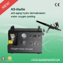 Hidro Hidráulico facial de oxígeno Jet Peel piel de oxígeno piel Dermabrasion máquina