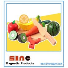 Hölzernes magnetisches Obst u. Gemüse, das Spielzeug / pädagogisches Spielzeug schneidet