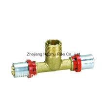 Raccord de presse pour tuyau en plastique (Tee)