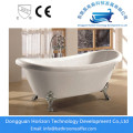 Claw foot acrylic bathtub white tub