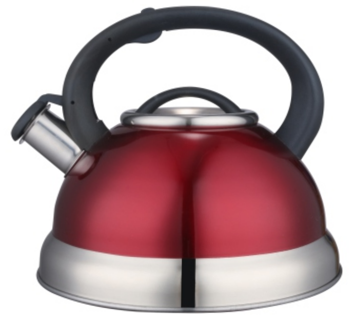 3.0L Stainless Steel color painting whistling Teakettle red color