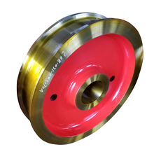 China customized best selling forged double flange crane wheel