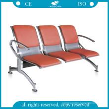 AG-Twc003 con colchón PU ISO y CE Sillas de espera hospitalarias
