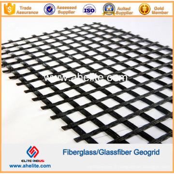 Asphalt Concrete Road Geogrid à fibre de verre usagé 50knx50kn