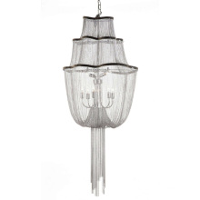 Modern Customizable led crystal european suspension luxury chain chandelier ceiling lamp
