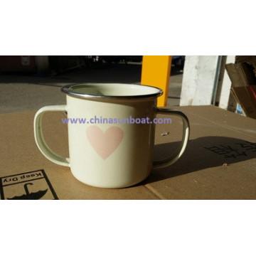 Sunboat Children Double Handle Enamel Cup Tableware Kitchenware/ Kitchen Appliance