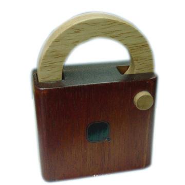 Brain Teaser Puzzle Wooden IQ Lock Game