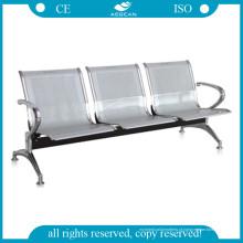 AG-Twc004 Cadeiras de Espera de 3 Lugares de Aço Inoxidável de Alta Resistência