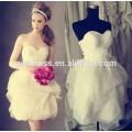 Plusgröße Brautkleider reizvolles kurzes Hochzeitskleid Strandorganza Babyhochzeitskleider patterns2015 (YASA-5088)