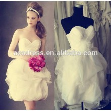 Plus size Bridal gowns sexy short wedding dress Beach organza Baby girl wedding dresses patterns2015 (YASA-5088)