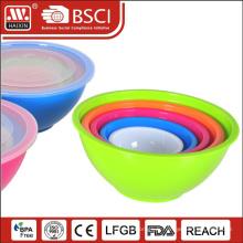 Vente en gros bols de mélange en plastique avec couvercles