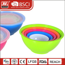 Wholesale plastic Mixing bowls with lids