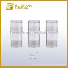Récipient / poteau cosmétique en plastique de 40 g, pot de crème cosmétiques, pot cosmétique en plastique, récipient cosmétique en plastique, récipient cosmétique pour crème
