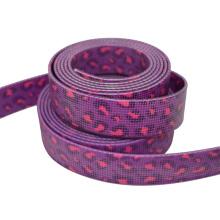 "High Tensile Purple Colors Pattern 1"" Webbing Tape For Backpack Belt"