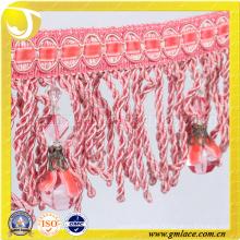 China Hersteller Brautkleider Kostüm Stoff Kristall Sexy Brautpinsel Fringe