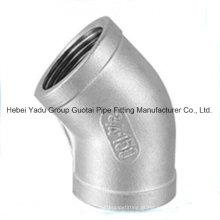 304 Acoplamentos de tubos de aço inoxidável em aço inoxidável Cotovelo