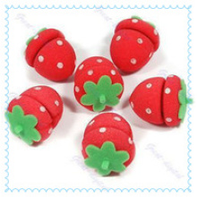 Strawberry Sponge Hair Roller/Foam Hair Roller