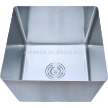 Bol en acier inoxydable traditionnel fabriqué à la main pour évier à compartiment