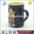 YScc0017-01 Weihnachtsmann und Schneemann Dekorative Keramik Tasse für Weihnachten Geschenk