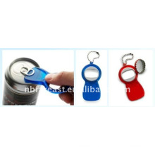 2015 new style promotions PLASTIC BOTTLE OPENER WITH KEYRING