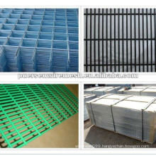 Galvanized and pvc coated welded fence panel