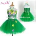 Ручной девушка пачка платье девушки цветка платье Хеллоуин костюм для детей дети тюль платье для партии выпускного вечера свадебные платья зеленого цвета фото