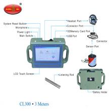 Machine ultrasonique de détection ultrasonique d'appareil de contrôle de fuites de conduites d'eau souterraine