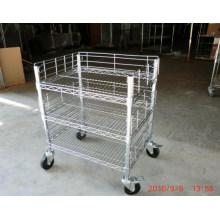 Chariot réglable en métal chromé pour atelier et usine