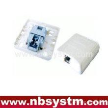 Caixa de superfície 1 porta RJ11 tipo sem maca, cheia de gel