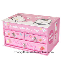Lovely Gift Music Jewelry Storage Gift Box with Drawer and Mirror