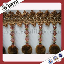 ball/pom trim and frings for curtain or lamp shades,bead fringe