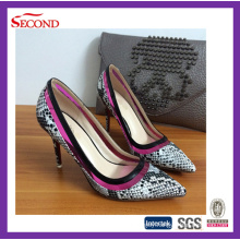 Promotional Snake Skin Leather High Heeled Shoes