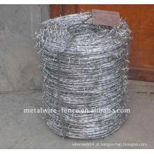 Arame farpado galvanizado usado como cerca de segurança Fabricante