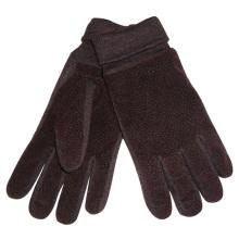 Herrenmode Acryl gestrickte Manschette PU-Leder warme Handschuhe (YKY5009)
