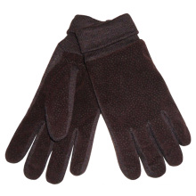 Men′s Fashion Acrylic Knitted Cuff PU Leather Warm Gloves (YKY5009)