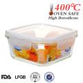 reheatable isolamento térmico quente vidro hermético recipiente de alimento