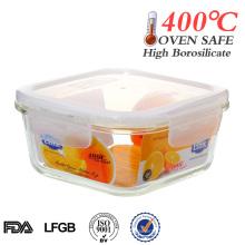 Recipiente de alimento de vidro com tampa de plástico