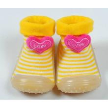 Новый малыша ребенка противоскользящие резиновые подошвы носки обувь сапоги тапочки