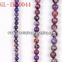 Imperial semi precious gemstone beads
