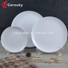 Küchenutensilien Keramikplatte, billig schlicht keramischen Teller, Großhandel bulk Keramikplatte