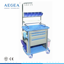 AG-NT003A1 With infusion hooks 3 drawers nursing working mobile hospital cart medical trolley