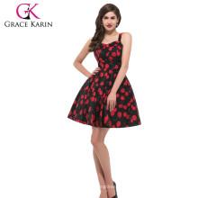 Vestido retro superventas CL6092-4 # de la cereza de la vendimia de la vendimia del algodón retro vendido de la vendimia #
