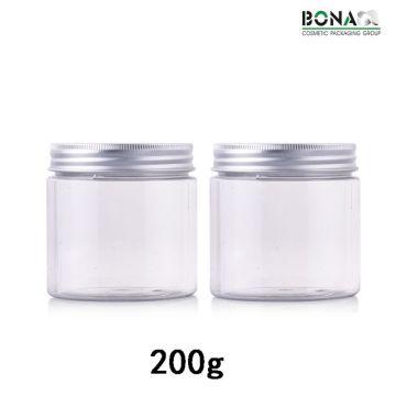 200g Best Selling Clear Pet Jar Cosmetic packaging Jar