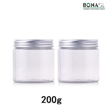 200g Plastic Clear Pet Jar Cosmetic Jar