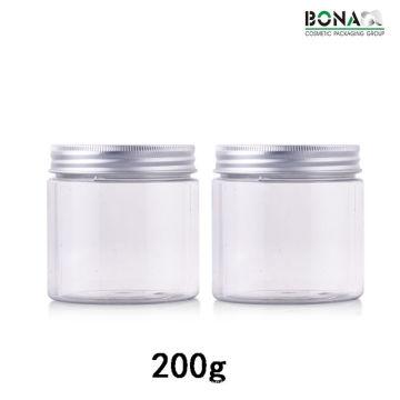 200g Plastic Clear Pet Jar Cosmetic Jar