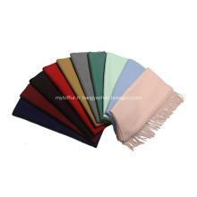 Châle en cachemire teint uni (multicolore disponible)